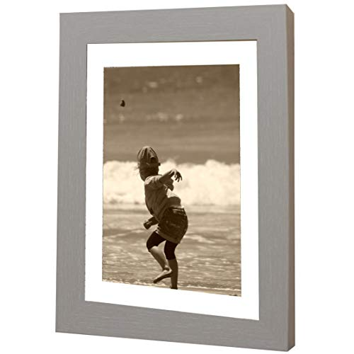 Bilderrahmen Fotorahmen 50x70 cm Grau bilderrahmen zum aufhängen MDF Picture Frames Farbe und 40 Verschiedene Größen wählbar ohne Passepartout Rahmen Ayleen