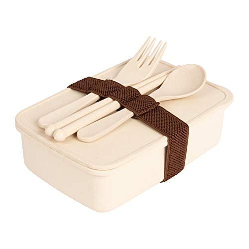 Mr. Bamboo Butterbrotdosen aus hochwertigen Bambusfasern | BPA-frei und Lebensmittelecht | spülmaschinen- & mikrowellengeeignet | inklusive Besteckset für Frühstück, Lunch oder Mittagessen (Natur)