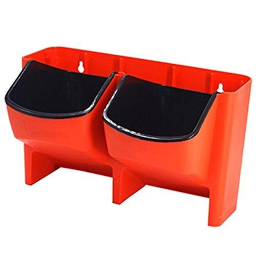 Sharplace Pots de Fleurs Bac d'arrosage Accessoires pour Plantes Auto Arrosage - Rouge