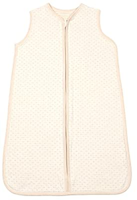 Dordor & Gorgor Organic Cotton Unisex Baby Sleeping Bag, All Natural Bleach & Dye-Free, Brown 3-6M