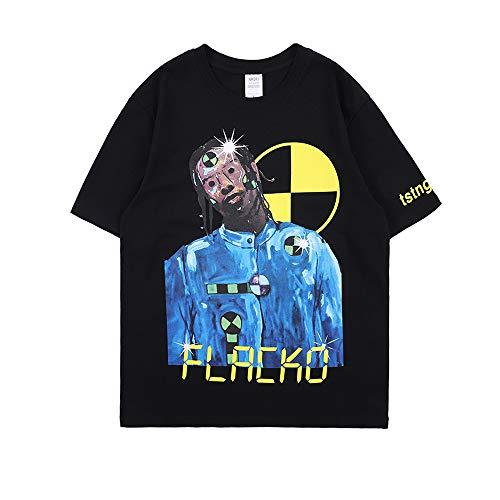 Aasp Rocky Hip Hop Rapper Kurzarm T-Shirt Rundhals Tee Shirt