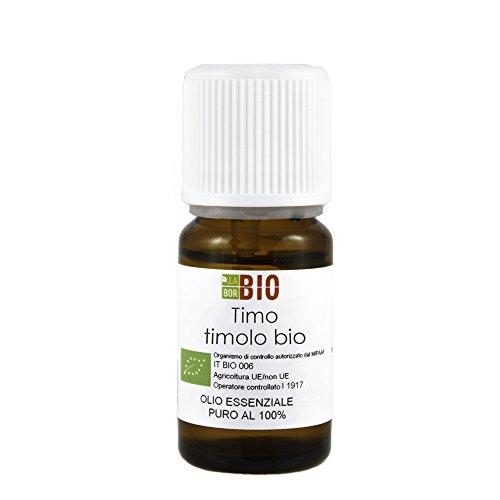 Olio essenziale TIMO TIMOLO BIO 5ML 100% PURO E NATURALE - AROMATERAPIA COSMETICA ALIMENTARE