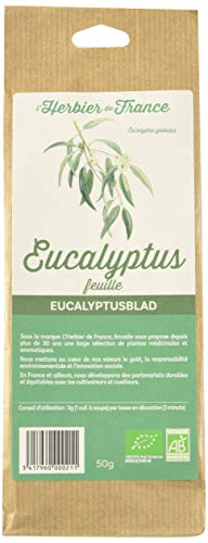 L'Herbier de France Eucalyptus Feuilles Bio Sachet Kraft 50 g