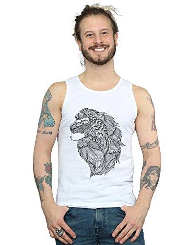 Disney Herren The Lion King Mufasa Tribal Muskelshirt Weiß Medium