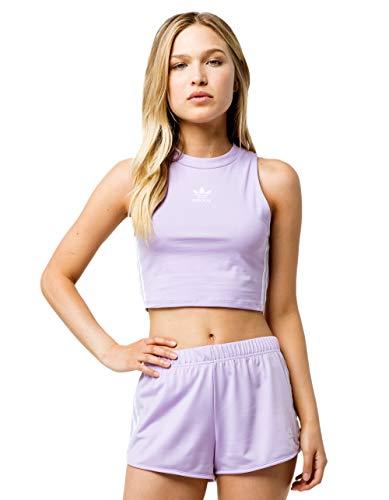 adidas Originals Women's Crop Tank Top, purple glow, X-Large