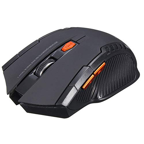 Wireless Optical Battery Gaming Mouse Mice with USB Receiver For Computer PC Laptop Negro