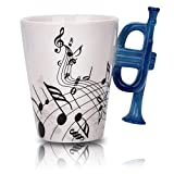 Music cup with trumpet handle