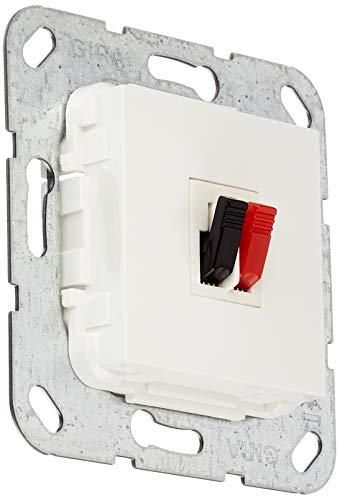 Gira 569203 Lautsprecher Anschluss 1-fach Einsatz, reinweiß