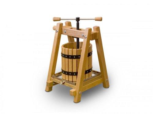 Destillatio: 10 Liter Obstpresse ❁ Weinpresse ❁ Beste EU-Qualität aus handgearbeitetem Buchenholz