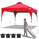ABCCANOPY 2x2M Pop Up Gazebo Beach Gazebo Commercial Instant Shelter with Wheeled Bag, Bonus 4 Weight Bags,4 Stakes&Ropes