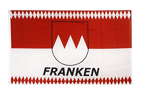 Fahne / Flagge Deutschland Franken Raute + gratis Sticker, Flaggenfritze®