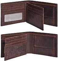 Eono by Amazon RFID Leather - Portefeuille pour Carte de crédit en Cuir - 9 Cartes de crédit avec Porte-Monnaie pour...