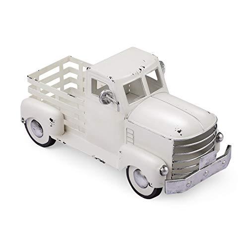 Vintage White Truck Decor