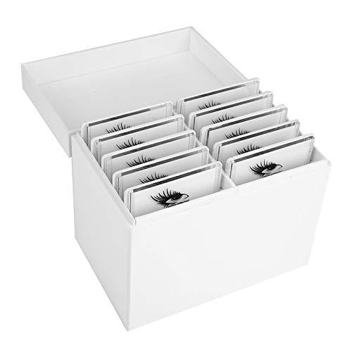 Caja de almacenamiento de pestañas postizas Aigid - 10 capas Juego de herramientas de pestañas postizas exquisito Juego de herramientas para pestañas postizas vacías Estuche para pinceles de pestañas