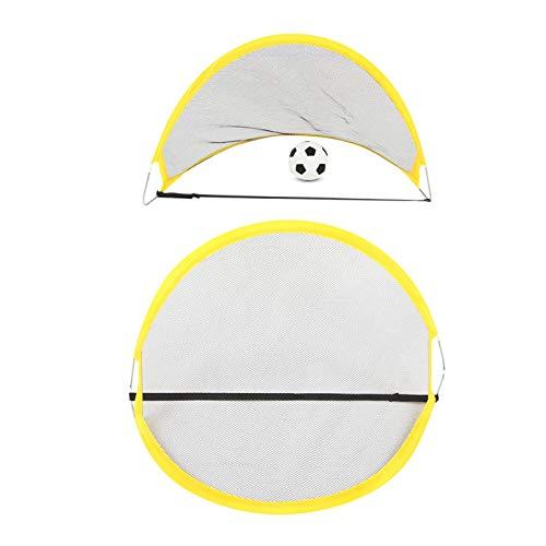 FOLOSAFENAR Portería de fútbol Plegable 2 x Portería de fútbol Plegable fácil de Instalar, para Exteriores(WT6651)