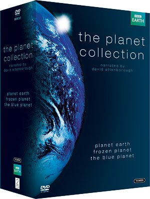 David Attenborough's Planet BBC TV Series (12 Discs) Box Set Complete DVD Collection - Plant Earth / Blue Planet / Frozen Planet + Extras