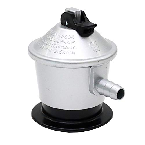 Com Gas 200072J Regulador gas butano, Plata Y Negro, 7.00x7.00x10.00 cm