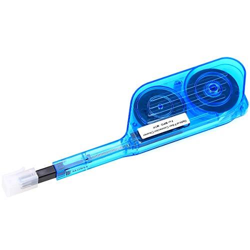 Herramienta de limpieza de fibra óptica para conectores MPO y MTP, limpieza en un clic, 500 ciclos de limpieza