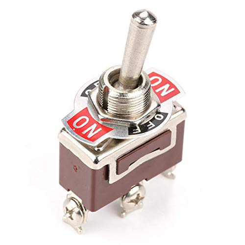 Interruptor de palanca, 250Vac, estable, compacto, duradero, interruptor de palanca ON-OFF-ON, útil para control industrial 3PDT Interruptor de palanca ON-OFF-ON de 3 pines,