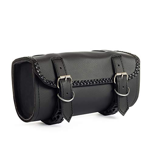 Handlebar Bag with PU Leather ElaineStore Mini Bicycle Travel Bag Motorcycle Tool Bag Waterproof SaddleBag