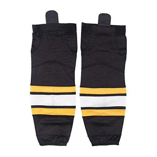 Cold Indoor Eishockey-Socken für Erwachsene, geeignet für Kinder bis Senior, Jungen, black 14, Small(24-26 Inch)