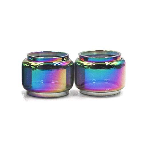Denghui-ec 5pcs Rainbow Bubble Glass Tube Fit for ELeaf Ello Duro Vate TS T Adatto per ISTICK Pico 25 S Rim C Adatta per IJust 3 Nexgen invocare Il Kit Ikonn Adatto per Il Serbatoio Pesso