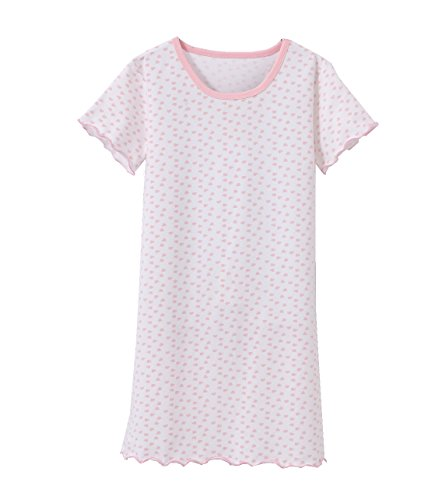 Zegoo Popular Cow Skin Print Nightshirt for Girl, White, 9-10 Years/Tag 150