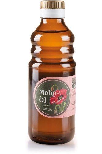 Kaltgepresstes Mohn-Öl - Saat aus regionalem Anbau (Oberbayern) - 250 ml Mohnöl