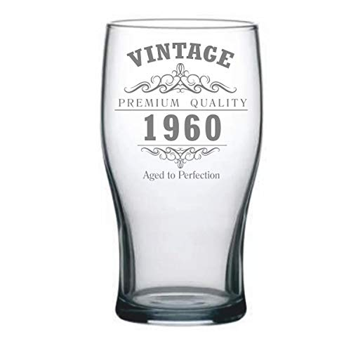 Vaso de cerveza de tulipán vintage de 1960