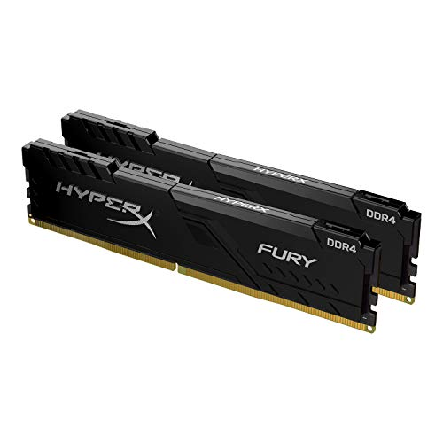 HyperX Fury 16GB 3200MHz DDR4 CL15 DIMM (Kit of 2) 1Rx8 Black XMP Desktop Memory HX432C16FB3K2/16