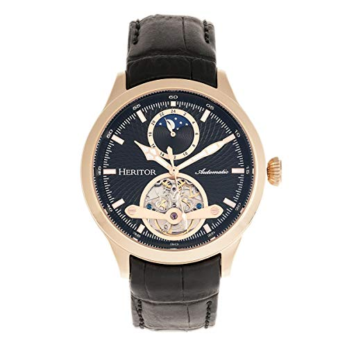 Heritor Gregory Automatic Rose Gold and Black...