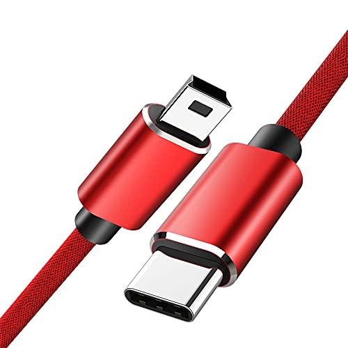 5A USB Type-C a Mini USB Cable USB 2.0 PD Cargador Transmisión Cable de Transferencia de Datos para computadora PC