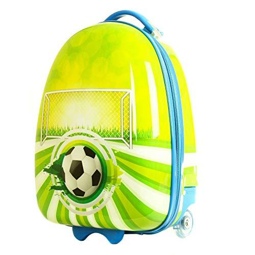 Maleta Infantil Equipaje de Manos para niños Bolso de Cabina Viaje. Futbol Redonda