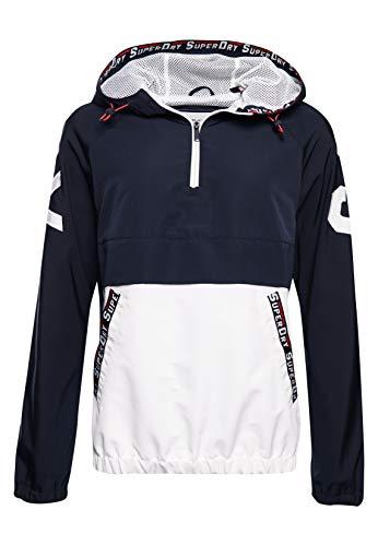 Superdry Damen Jacke zum Überziehen mit Farbblock-Design Marineblau 44