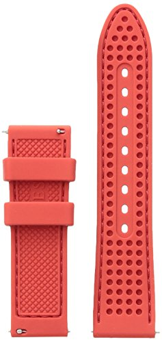 GUESS CS1002S10 22mm Silicone Red Watch Strap