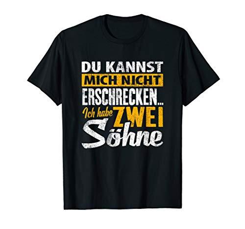 T-Shirt zwei Söhne - Papa Mama Zwillinge Geschenk Spruch