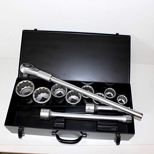 Steckschlüsselsatz 1 zoll 25 mm LKW, WGB, 10 Jahre Garantie. Schlüsselweite SW 36 bis 70 mm, 12 Teile CV-Stahl, Ausstellungsstück. Steckschlüsselsortiment, Nüsse, Ratsche, Knarrenkasten, Nusskasten