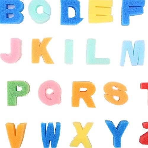 zhaita 26 STKS Alfabet Hoofdletters Kid Doodle Seal Sponge Stamp ABC Puzzel Board voor Peuters 35 Jaar Oud, Peuters Jongens & Meisjes Educatief Leren