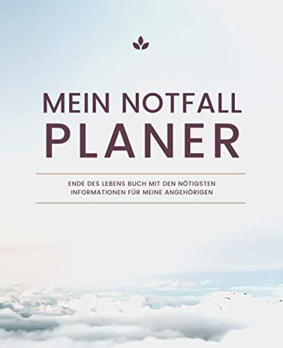 Mein Notfall Planer - Ende Des Lebens...