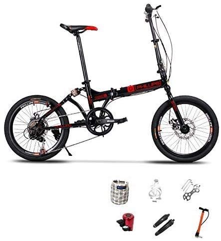 YAOJIA Bicicleta Plegable Adulto Bicicleta Plegable para Niños |Freno De Doble Disco De 20 Pulgadas Bicicleta De La Ciudad Plegable Bicicletas de Carretera (Color : B)