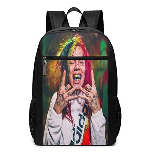 School Bag Travel Daypack, 6ix9ine Backpacks Travel School Large Bags Shoulder Laptop Bag for Men Women Kids