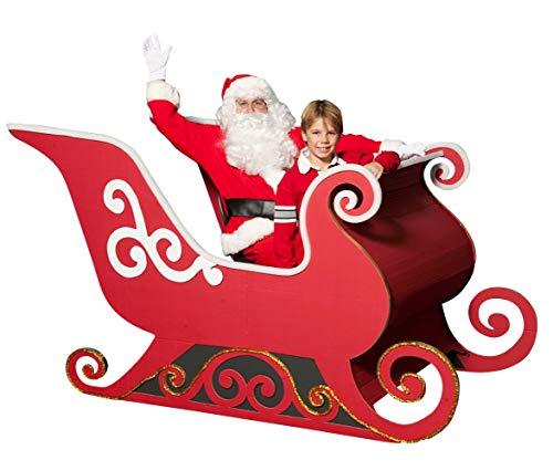 Anderson's Santa's Sleigh Photo Op Kit, Cardboard Christmas Decoration
