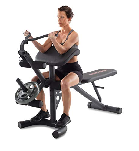 Weider XRS 20 Olympic Workout Bench with Removable Preacher Pad and Integrated Leg Developer