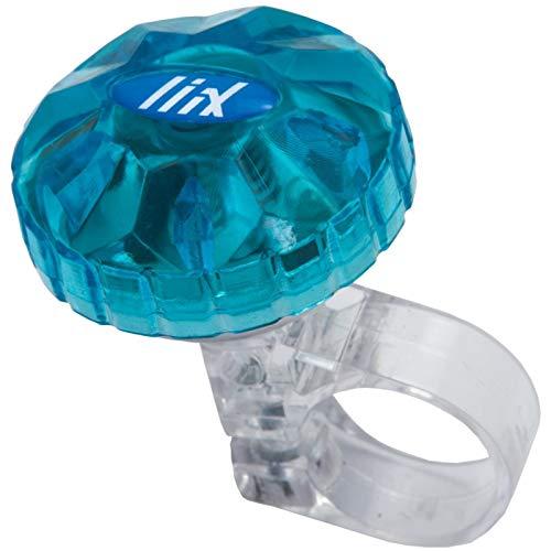 Drehklingel TOKYO BELL mit transparentem Deckel blau von Liix