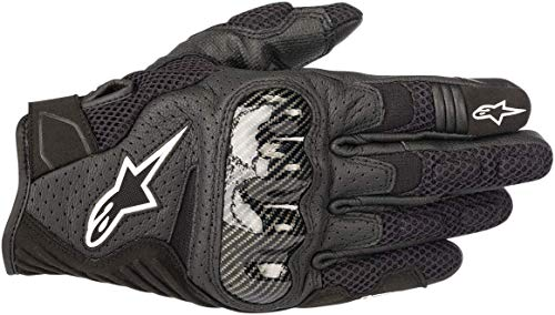 Alpinestars Men's SMX-1 Air v2 Motorcycle Riding Glove, Black, Large