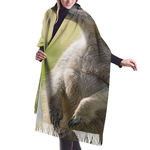 Ahdyr Bufanda de chal para mujer Coraje ColorScarf Miniatura Pastor australiano Perro para mujer Abrigos largos cálidos para mujer Bufandas de punto grande de cachemira