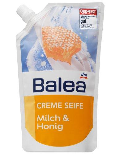 Balea Creme Seife Milch & Honig Nachfüllpack, 2er Pack (2 x 500 ml)