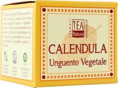 TEA NATURA Baume Végétal au Calendula - Soin polyvalent sur la peau rougie et irritée - Idéal pour les soins du change - Apaisant & anti-inflammatoire - Vegan - 50 ml