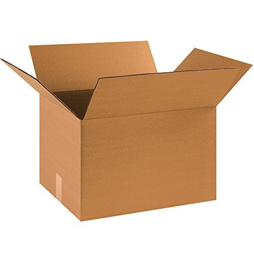 BOX USA 20-Pack Corrugated Cardboard Boxes, 18' L x 14' W x 12' H, Kraft, with 10 FREE Fragile Labels, for Shipping, Packing and Moving