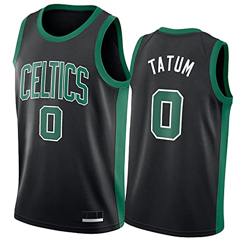 Jayson Tatum Trikot Boston Celtics #0 Herren Atmungsaktiv Mesh Stickerei Logo Basketball Jersey,Fans Sport Beiläufig Trainingsuniform,S-2XL Black-L